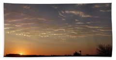 Sunrise With Windmill Hand Towel