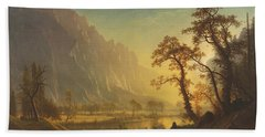 Sunrise, Yosemite Valley Hand Towel