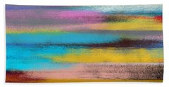 Bath Towel featuring the digital art Sunset Abstract by Riana Van Staden