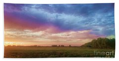 Sunset Across Cheshire Bath Towel