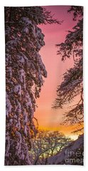 Sunset After Snow Hand Towel by Mike Ste Marie