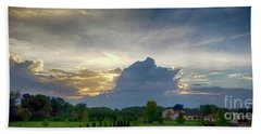 Bath Towel featuring the photograph Sunset After The Storm by Ricky L Jones