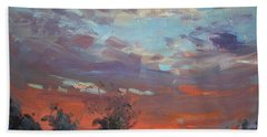 Sunset After Thunderstorm Hand Towel
