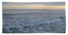 Sunset Along Oak Island Bath Towel by Skyler Tipton