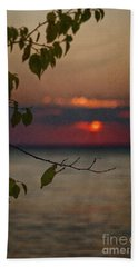 Sunset And Branches Bath Towel