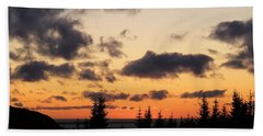 Hand Towel featuring the photograph Sunset And Dark Clouds by Barbara Griffin
