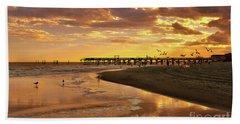 Sunset And Gulls Bath Towel by Kathy Baccari
