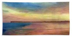 Sunset And Pier Hand Towel