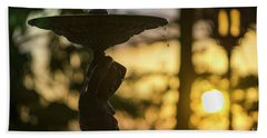 Bath Towel featuring the photograph Sunset At Alameda Apodaca Cadiz Spain by Pablo Avanzini