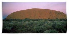 Sunset At Ayre's Rock Hand Towel
