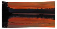 Sunset At Brothers Islands Bath Towel