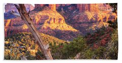 Sunset At Cathedral Rock Bath Towel