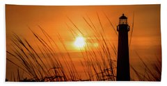Sunset At Cm Lighthouse Hand Towel