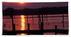 Sunset At Colonial Beach Hand Towel