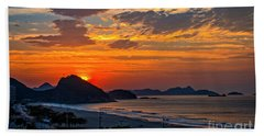 Sunset At Copacabana Hand Towel