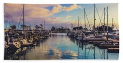 Sunset At Dana Point Harbor Hand Towel