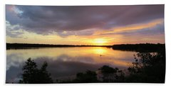 Hand Towel featuring the photograph Sunset At Ding Darling by Melinda Saminski
