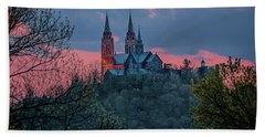 Bath Towel featuring the photograph Sunset At Holy Hill by Susan Rissi Tregoning