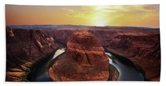 Sunset At Horseshoe Bend Hand Towel