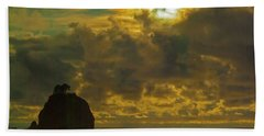 Sunset At Jones Island Hand Towel by Dale Stillman