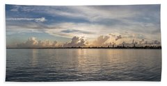Sunset At Key Largo Bath Towel by Christopher L Thomley