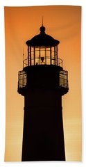 Sunset At Lighthouse Bath Towel