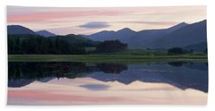 Sunset At Loch Tulla Bath Towel