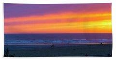 Sunset At Long Beach Washington Bath Towel