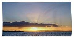Sunset At Lough Derg Bath Towel