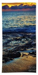 Sunset At Low Tide Hand Towel by Craig Wood
