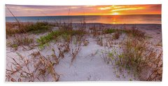 Sunset At Manisota Beach Bath Towel