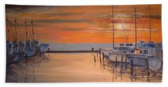 Sunset At Marina Bath Towel