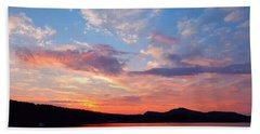 Sunset At Ministers Island Bath Towel