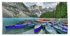 Sunset At Moraine Lake Hand Towel