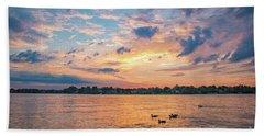 Sunset At Morse Lake Hand Towel