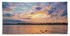 Sunset At Morse Lake Bath Towel