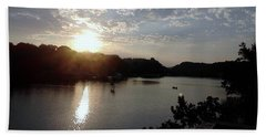 Sunset At Occoquan Bath Towel