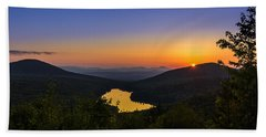 Sunset At Owls Head Hand Towel by Tim Kirchoff