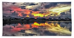 Sunset At Oyster Lake Hand Towel