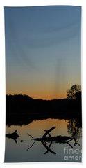 Sunset At Paulinskill Lake Hand Towel by Nicki McManus