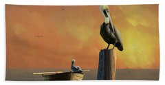 Sunset At Pelican Cove Hand Towel