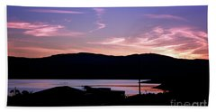 Sunset At Portavadie Scotland Bath Towel