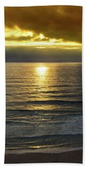 Sunset At Praia Pequena, Small Beach In Sintra Portugal Hand Towel