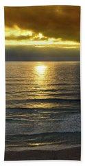 Sunset At Praia Pequena, Small Beach In Sintra Portugal Bath Towel