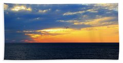Bath Towel featuring the photograph Sunset At Sail Away by Shelley Neff