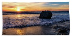 Sunset At San Simeon Beach Hand Towel