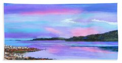Sunset At Secret Cove Hand Towel by Rae  Smith  PAC