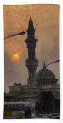 Sunset At Seeb Hand Towel