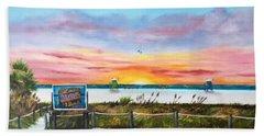 Sunset At Siesta Key Public Beach Hand Towel
