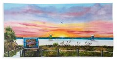 Sunset At Siesta Key Public Beach Bath Towel